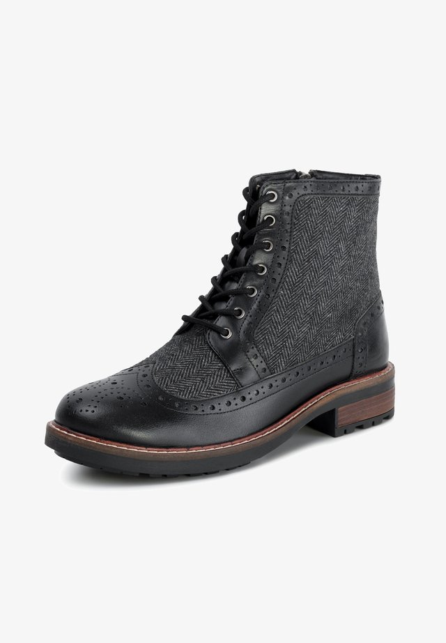 TWILL - Lace-up ankle boots - black