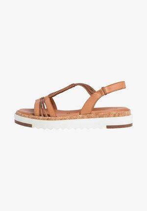Platform sandals - nut/bronce