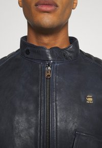 G-Star - HAWORX - Leather jacket - garris washed/mazarine blue - 5