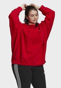 adidas Originals - ADICOLOR ORIGINALS SLIM PULLOVER - Sweatshirt - red - 4