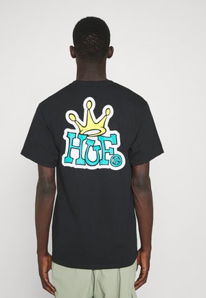 CROWN LOGO TEE - Print T-shirt - black