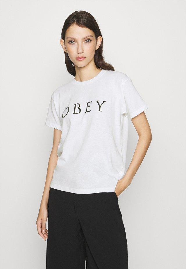 NOVEL - T-shirt con stampa - white
