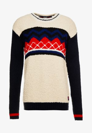 MIXED PLACEMENT PATTERN - Pullover - combo