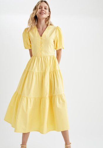 TIERED  - Day dress - yellow