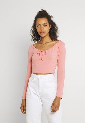 LONGSLEEVE TIE  - Long sleeved top - light pink
