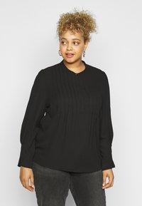 Selected Femme Curve - SLFVIA TOP  - Blouse - black - 0