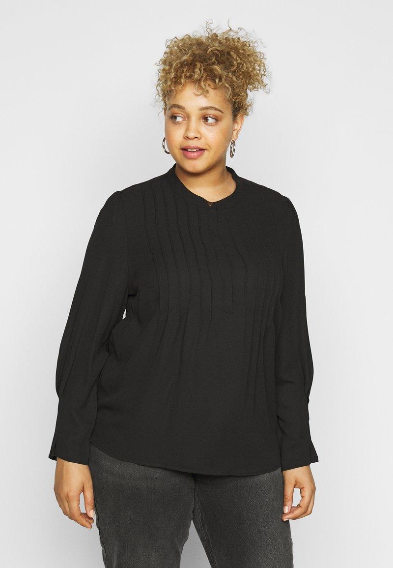 Selected Femme Curve - SLFVIA TOP  - Blouse - black