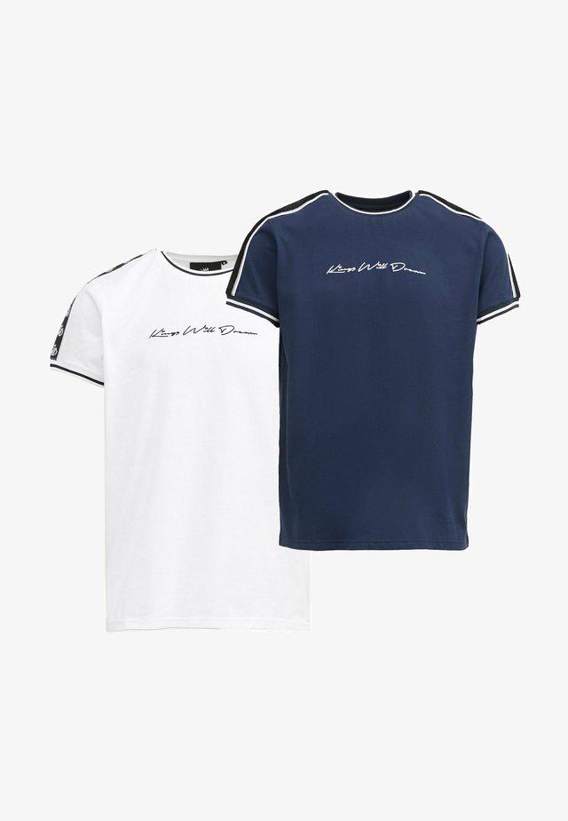 DENSON - T-shirt con stampa - white navy