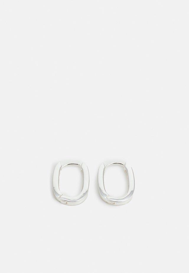 ANCHOR OVAL EAR PLAIN - Orecchini - silver-coloured