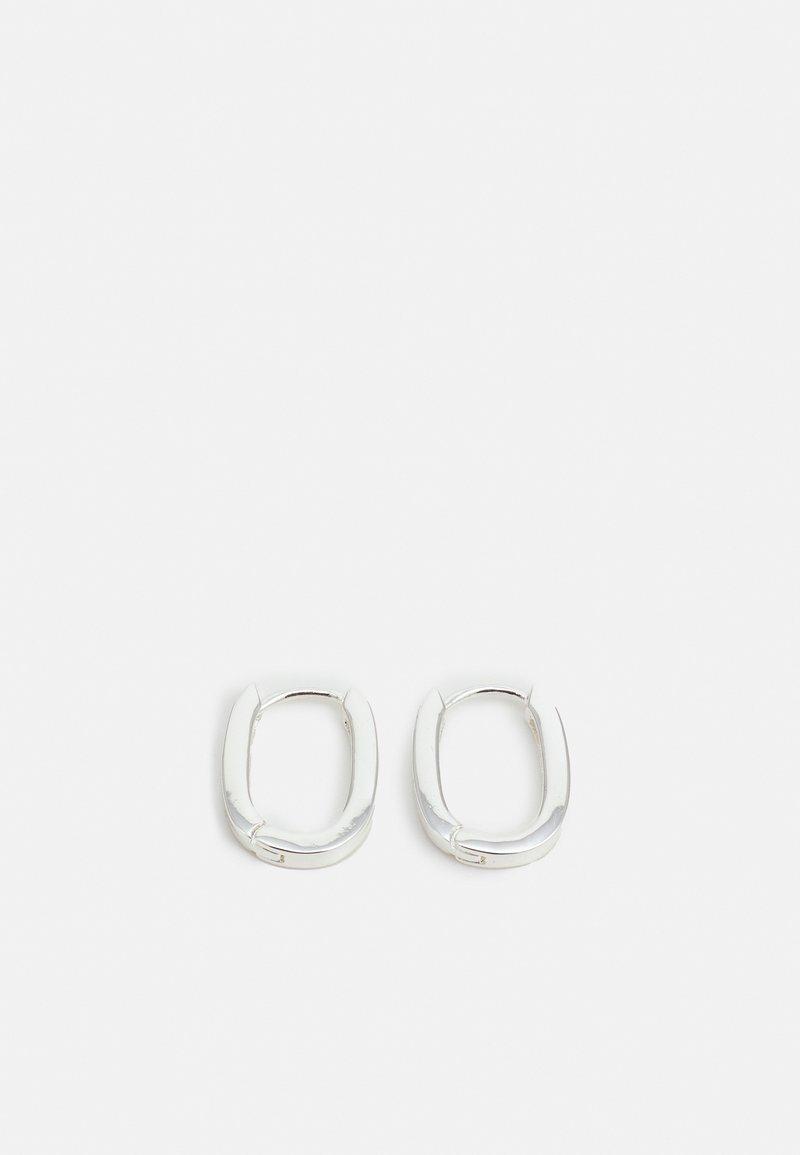 SNÖ of Sweden - ANCHOR OVAL EAR PLAIN - Earrings - silver-coloured