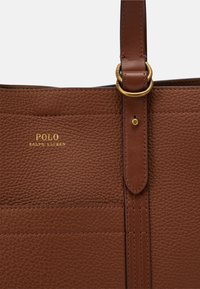 Polo Ralph Lauren - PEBBLED CLASSIC TOTE - Tote bag - light brown - 4