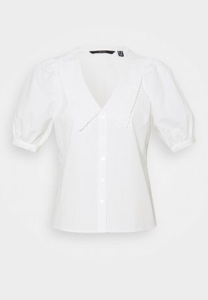 VMALLY 2/4 COLLAR - Button-down blouse - snow white