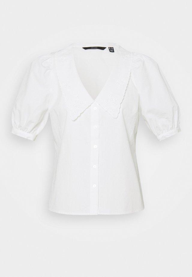 VMALLY 2/4 COLLAR - Button-down blouse - snow white
