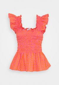 Never Fully Dressed - GINGHAM  - Pusero - orange - 4