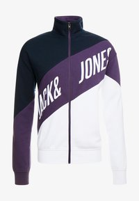Jack & Jones - JCOHILL ZIP HIGH NECK - Sweatjacke - sky captain - 4