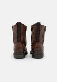 TOM TAILOR - Veterboots - cognac - 3
