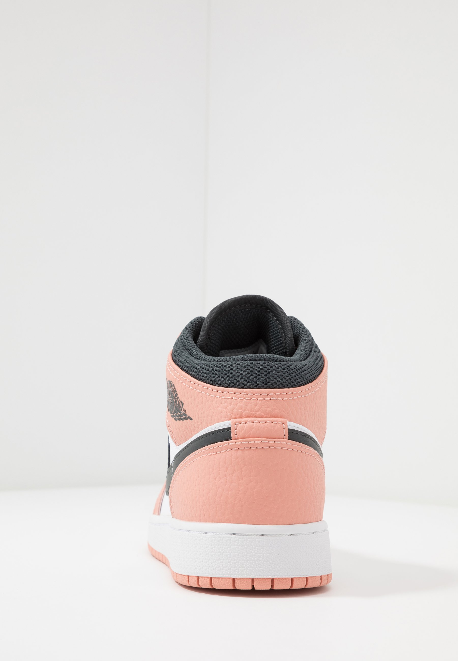 AIR 1 MID UNISEX - Basketball shoes - pink quartz/dark smoke grey/white