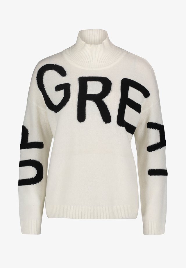 Sweatshirt - blanc/noir