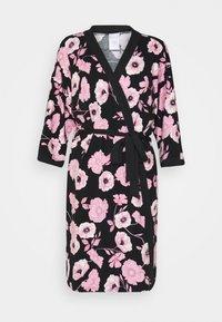 LASCANA - KIMONO - Dressing gown - black/pink - 4