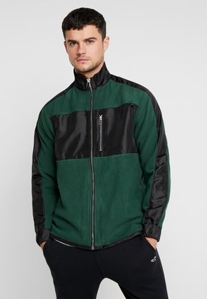 Fleece jacket - green/black