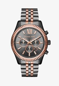 Michael Kors - LEXINGTON - Chronograph watch - gunmetal/roségold-coloured - 1