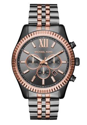LEXINGTON - Zegarek chronograficzny - gunmetal/roségold-coloured