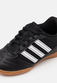adidas Performance - SUPER SALA UNISEX - Indoor football boots - core black/footwear white/simple green - 5