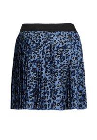 WE Fashion - PLISSÉ MET LUIPAARDDESSIN - Plooirok - blue - 3