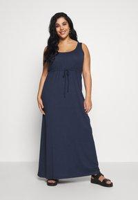 Even&Odd Curvy - BASIC MAXI DRESS - Maxikleid - dark blue - 0