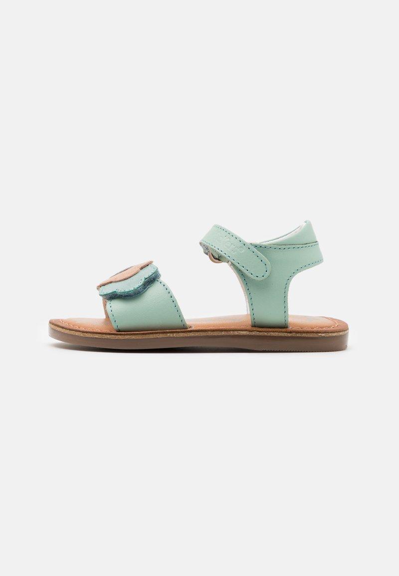 Kickers - DYASTAR - Sandals - vert/orange/argent