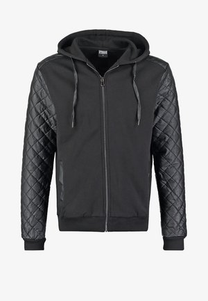 Zip-up hoodie - black/black