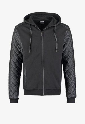 veste en sweat zippée - black/black