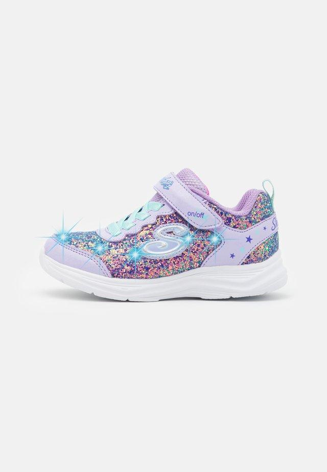 GLIMMER KICKS - Sneakers laag - lavender rock glitter/aqua/pink