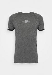 SIKSILK - DUAL CUFF TECH TEE - T-shirt - bas - dark grey marl - 3