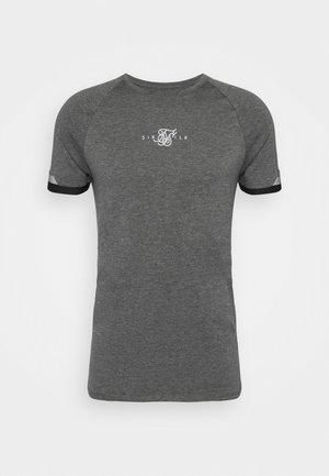 DUAL CUFF TECH TEE - Basic T-shirt - dark grey marl