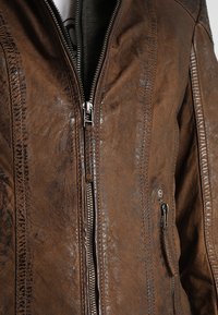 Gipsy - CASCHA LAMOV - Leather jacket - antic brown - 6