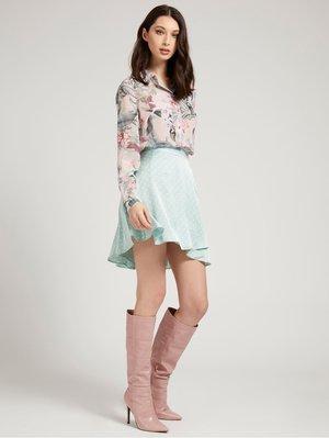 Button-down blouse - blumenmuster