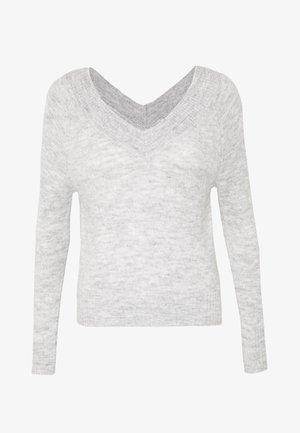JDYSTACEY CPOPPED - Stickad tröja - light grey