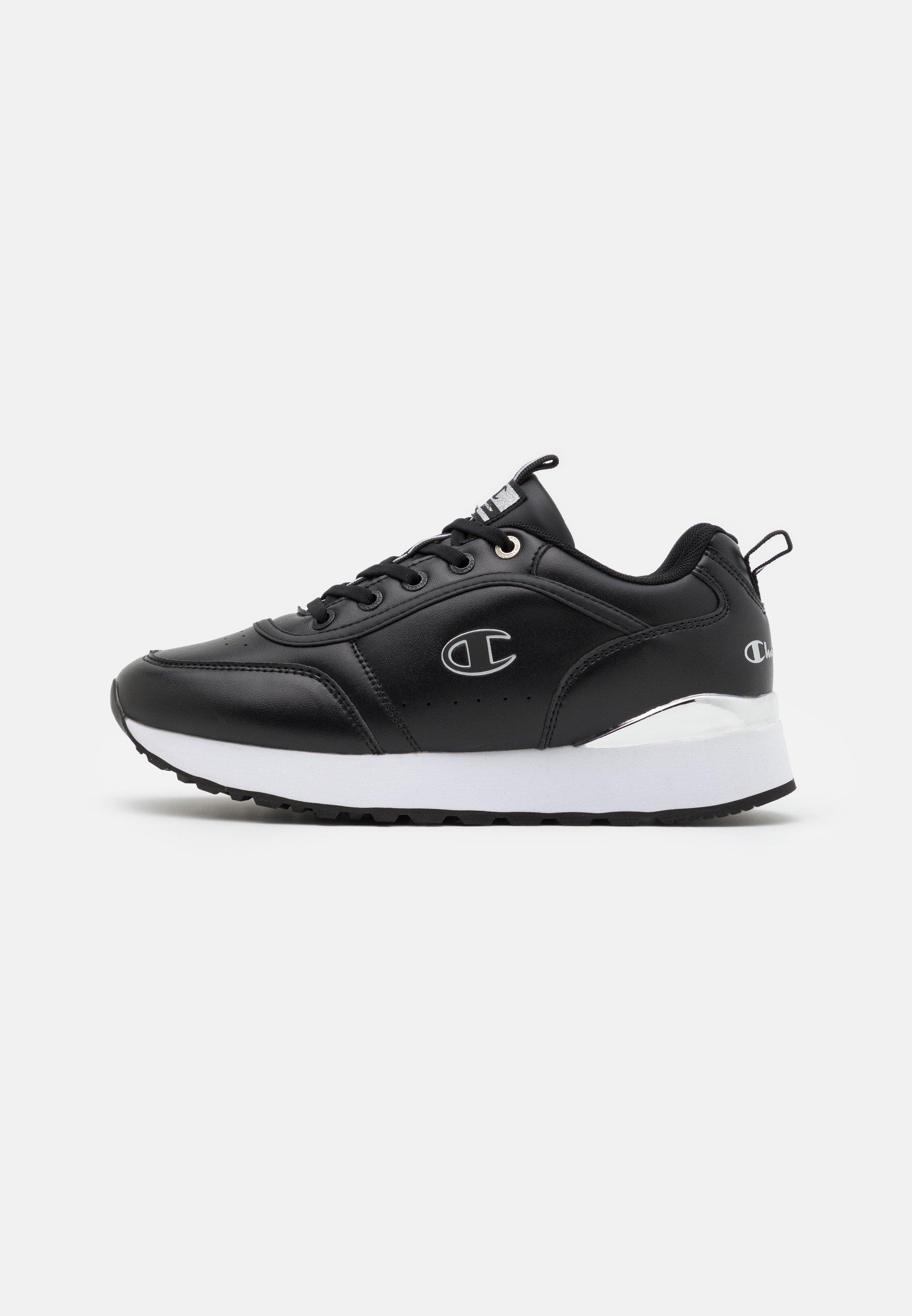 Women LOW CUT SHOE RR CHAMP PLATFORM  - Sports shoes - black/silver