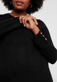 Dorothy Perkins Curve - BUTTON CUFF FINE GAUGE JUMPER - Strikkegenser - black - 5