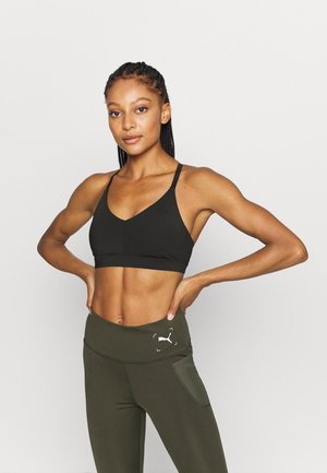 LOW IMPACT STRAPPY BRA - Light support sports bra - black
