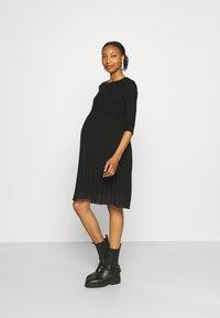 MAMALICIOUS - MLRAINA JUNE MIX KNEE DRESS - Jersey dress - black - 5