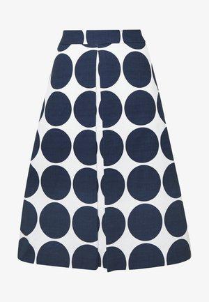 MIDI - A-line skirt - blau