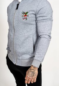 Ed Hardy - TILL DEATH BOMBER TRACKTOP - Zip-up hoodie - grey - 4