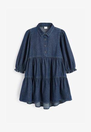 TIERED - Denimové šaty - blue