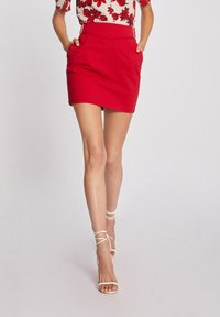 Morgan - WITH BUCKLES - Pencil skirt - red - 0