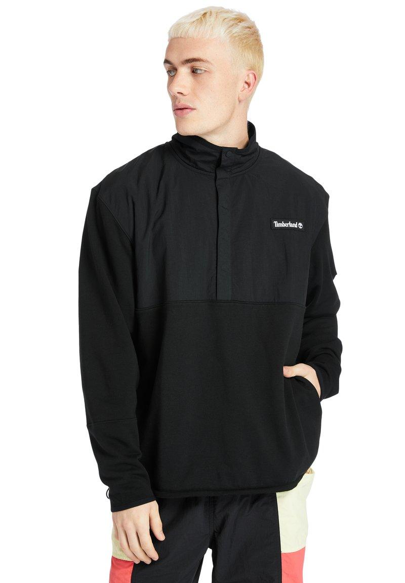 Timberland - ARCHIVE OVERHEAD HYBRID - Sweatshirt - black