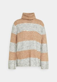 YAS - YASALLU STRIPE   - Jumper - light grey melange/tawny brown - 3