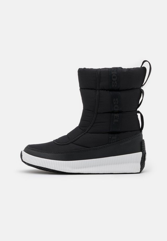 OUT ABOUT PUFFY MID MATTE RIPS - Snowboots  - black