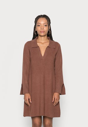 JEN MINI TRAPEZE DRESS - Jumper dress - chocolate brown